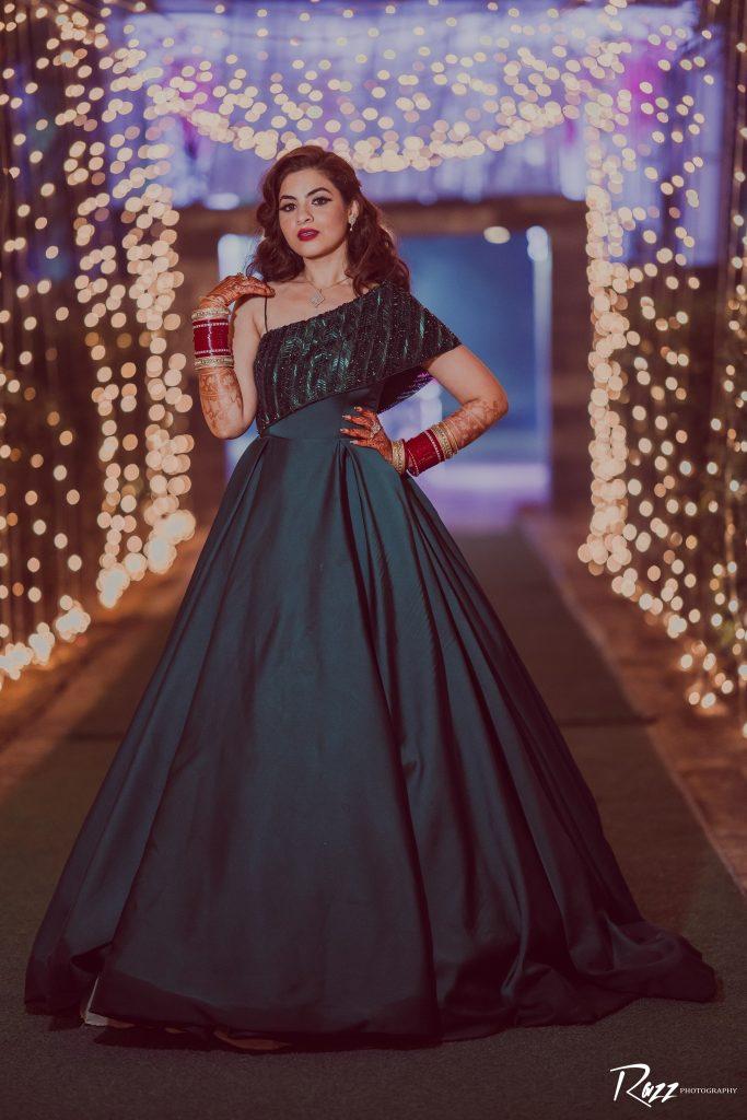 bridal reception gown