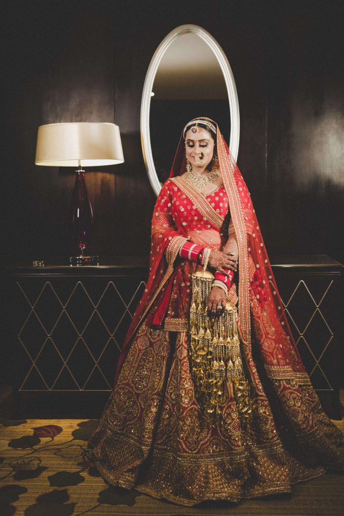 red Sabyasachi Bridal Outfit