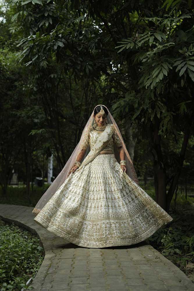 ivory bridal lehengas