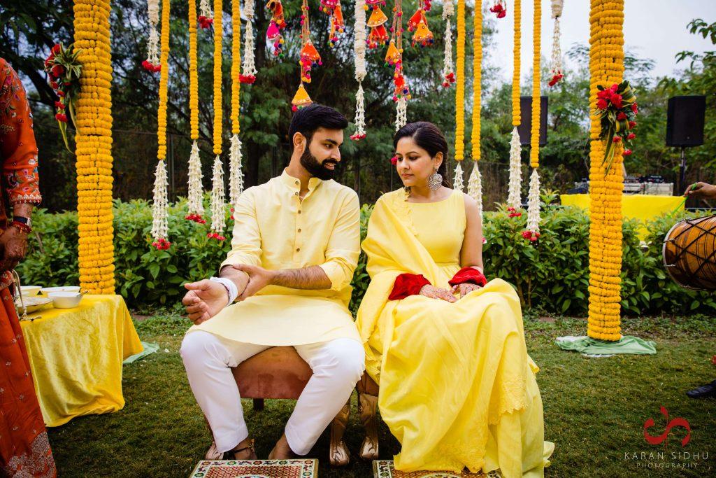 yellow haldi outfits