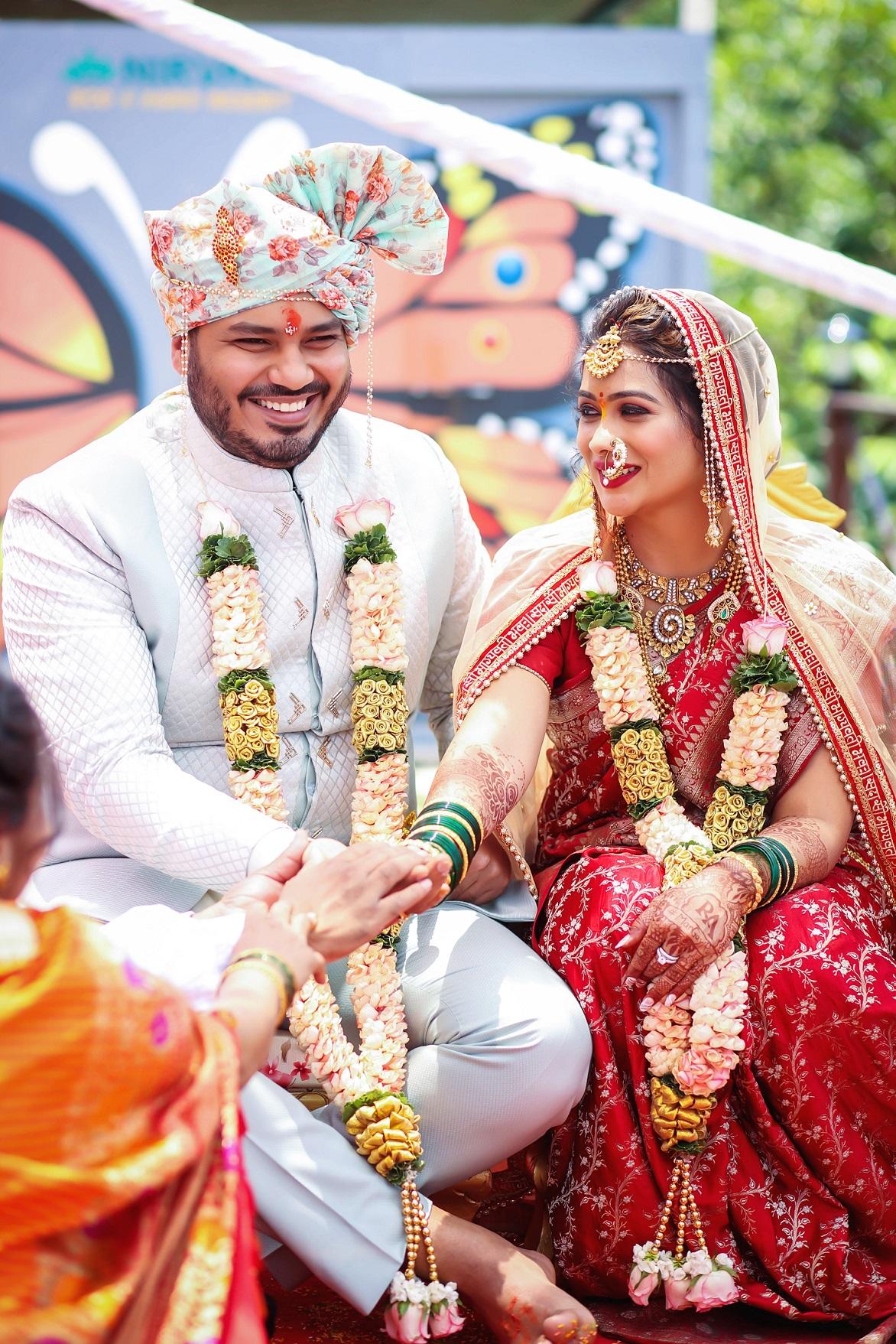 Actress ruchita Jadhav's intimate wedding