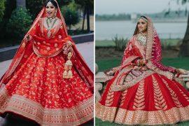 Designer red bridal lehenga