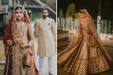 Gold Bridal Outfits