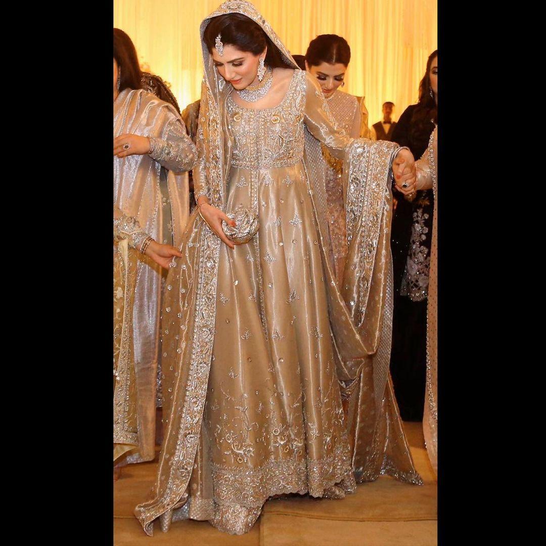 Gold bridal Anarkali