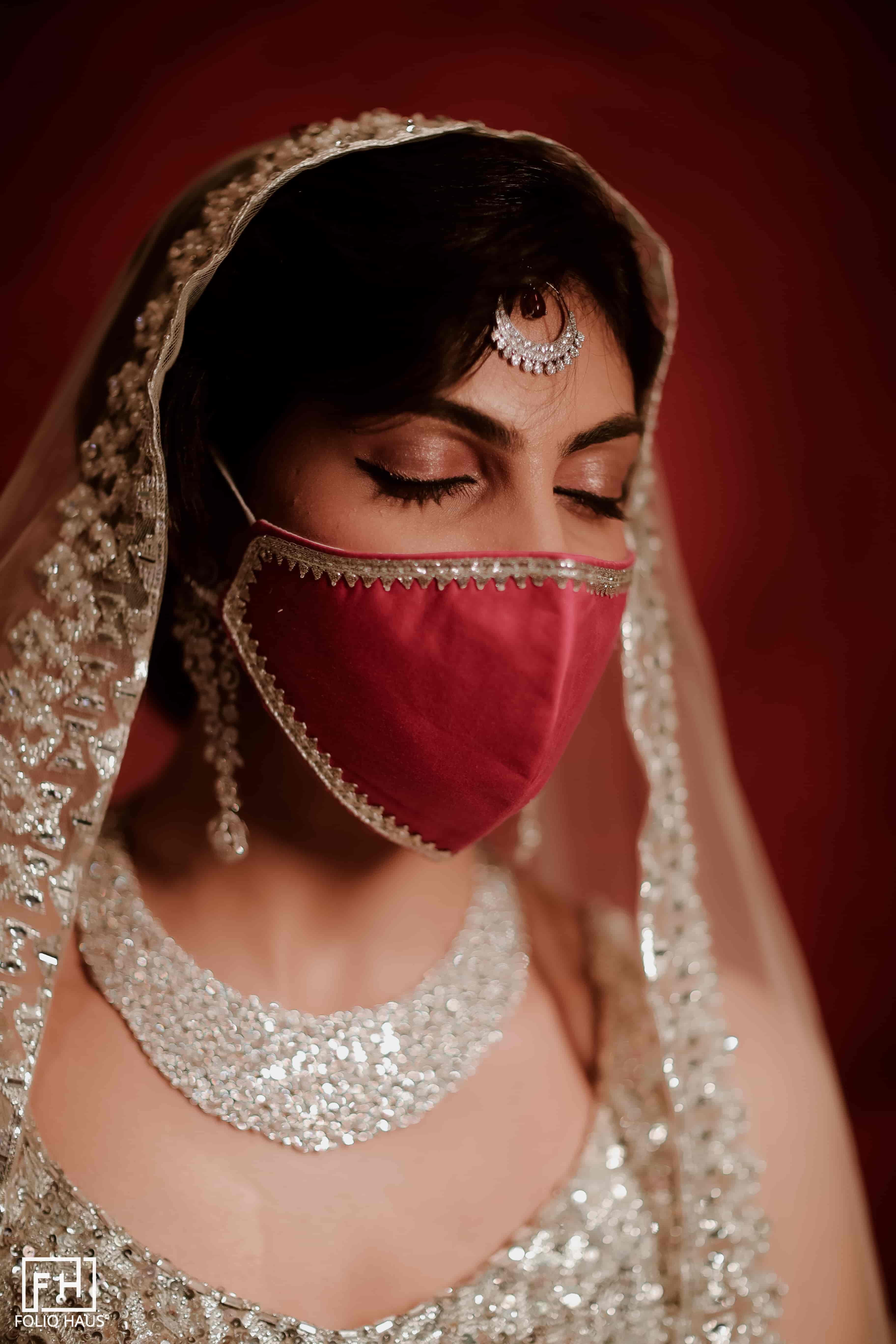 Minimalist bridal masks