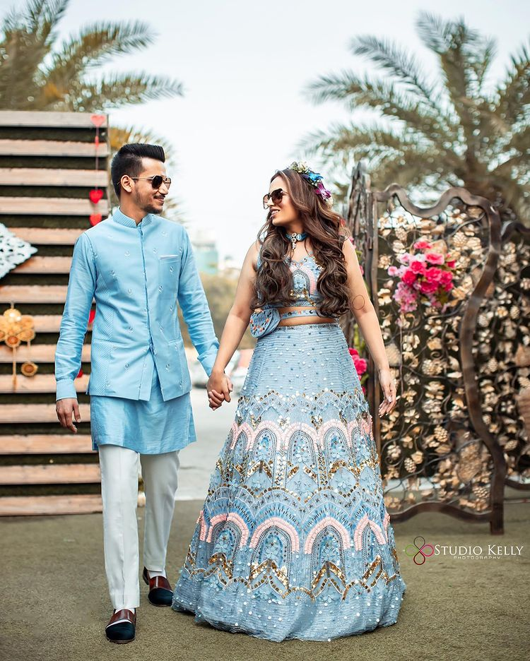 lehengas with belt bags