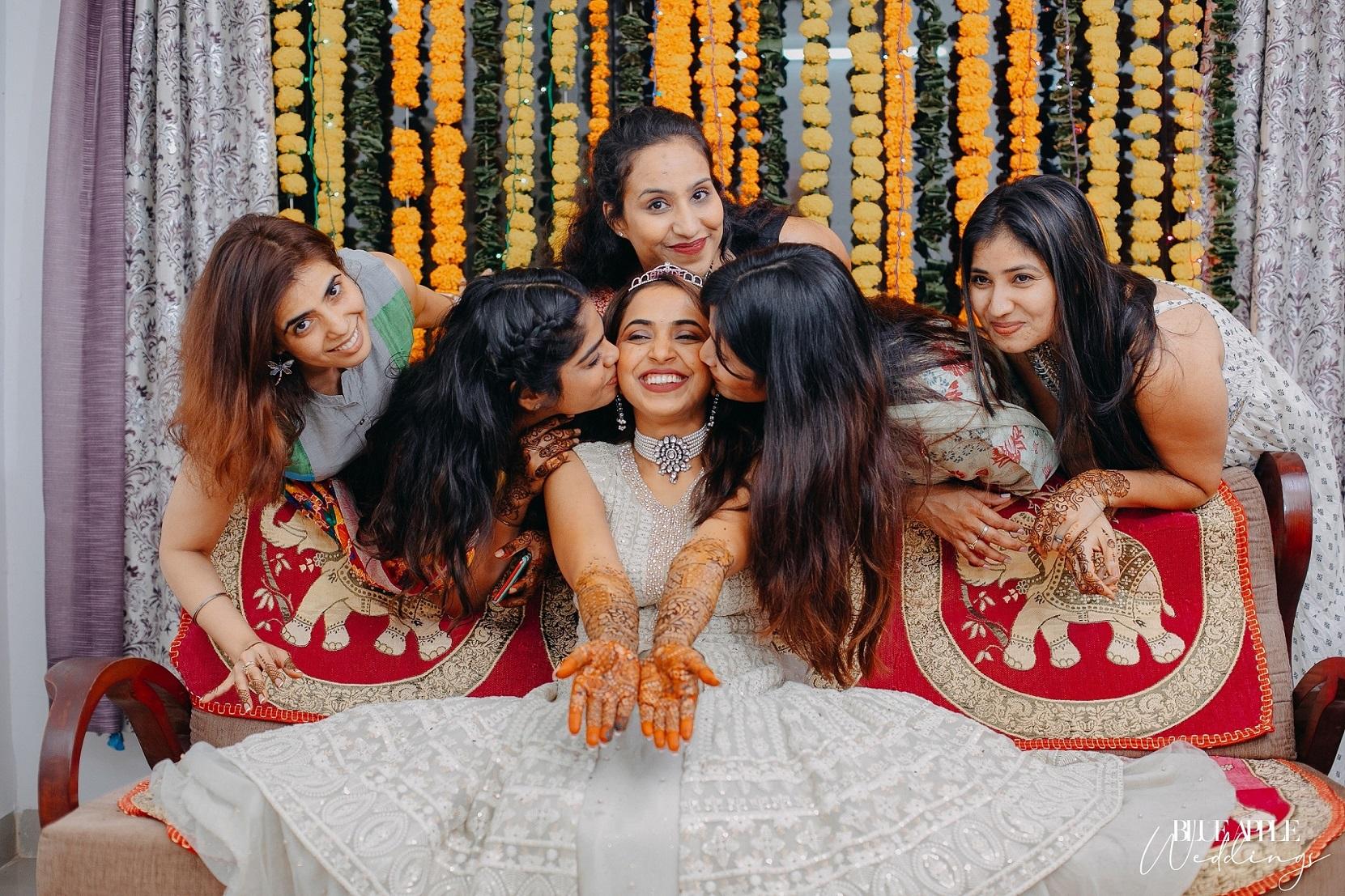 bride with bridesmaid photos