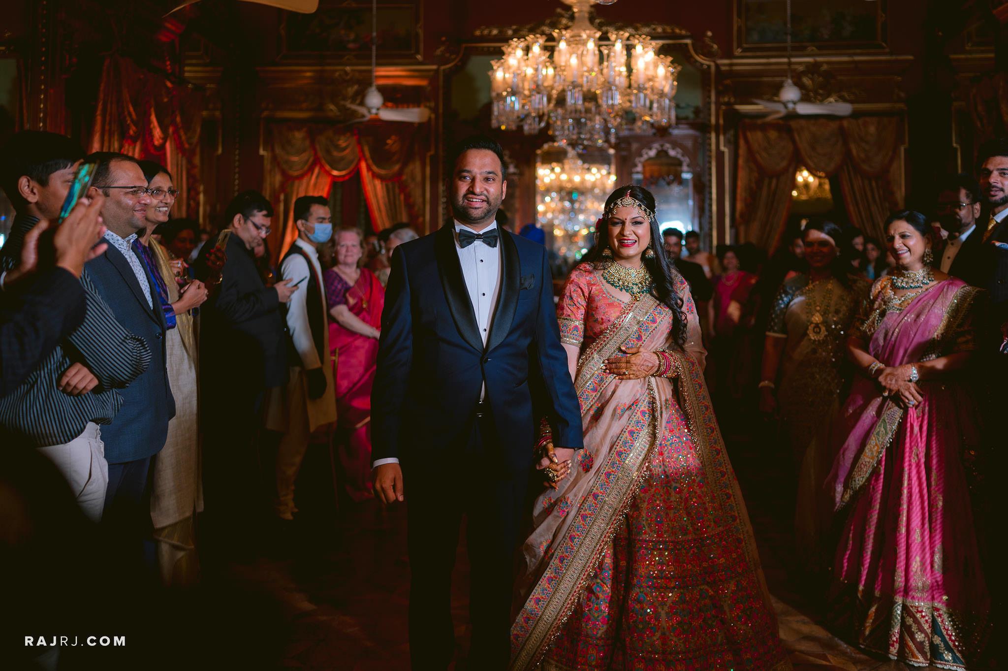couple reception look