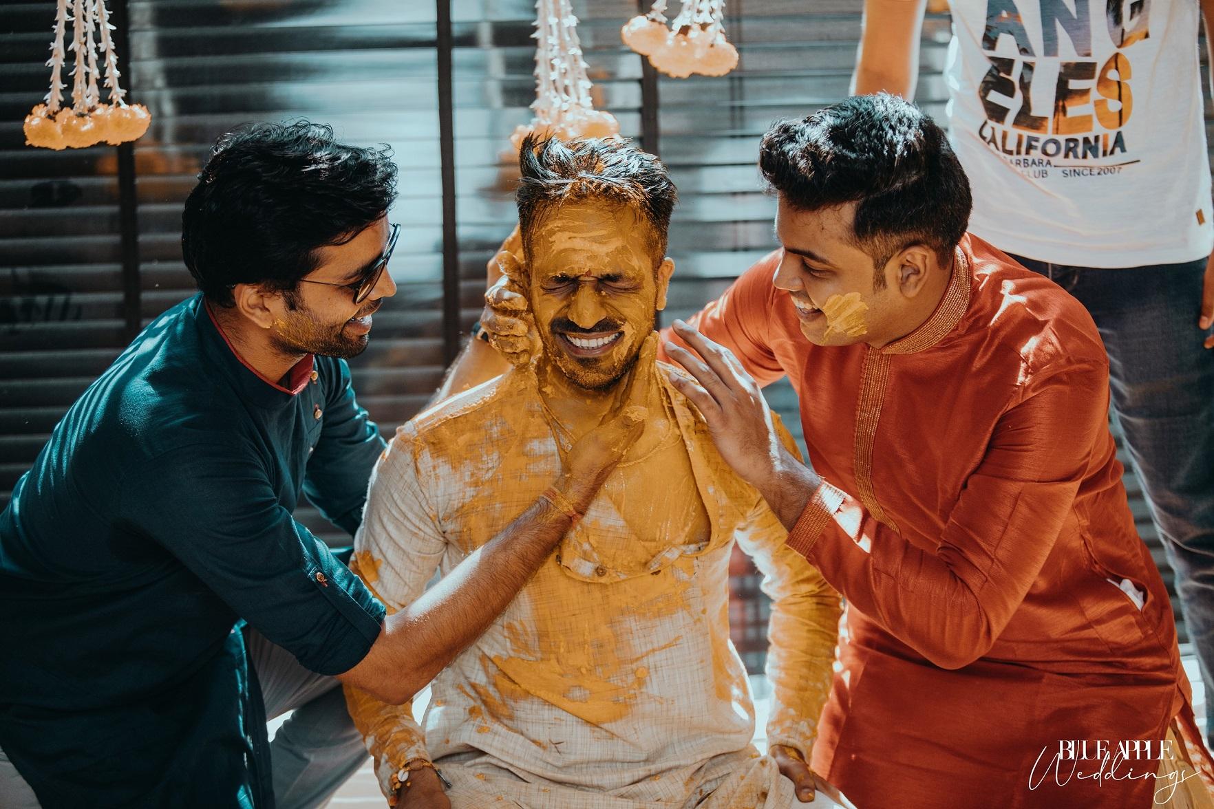 groom haldi pictures
