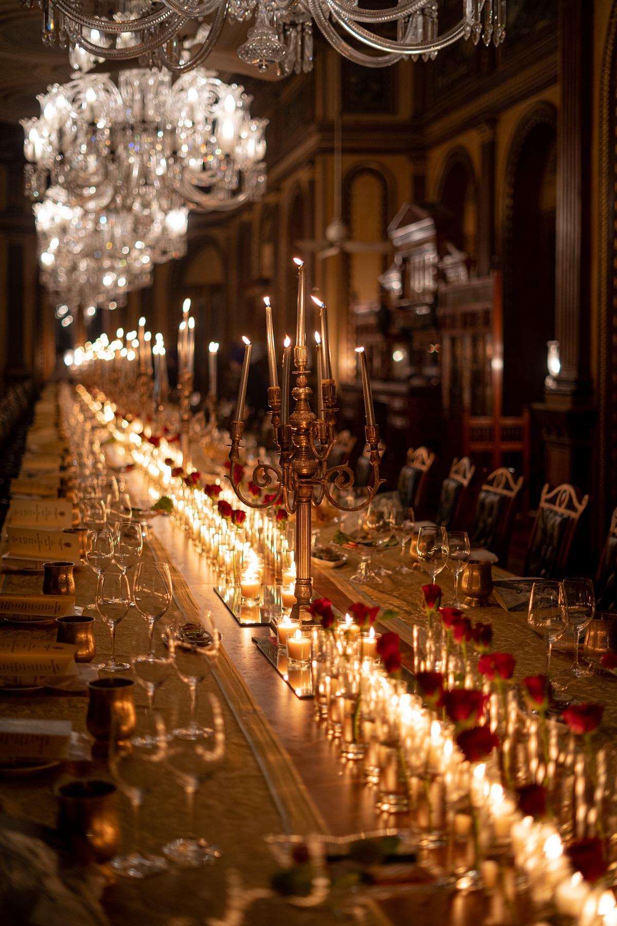 luxe reception decor