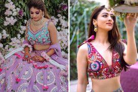 colorful bridal blouses