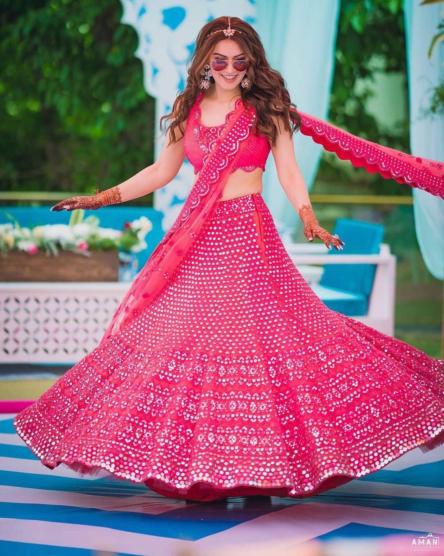 pink lehenga for Mehendi