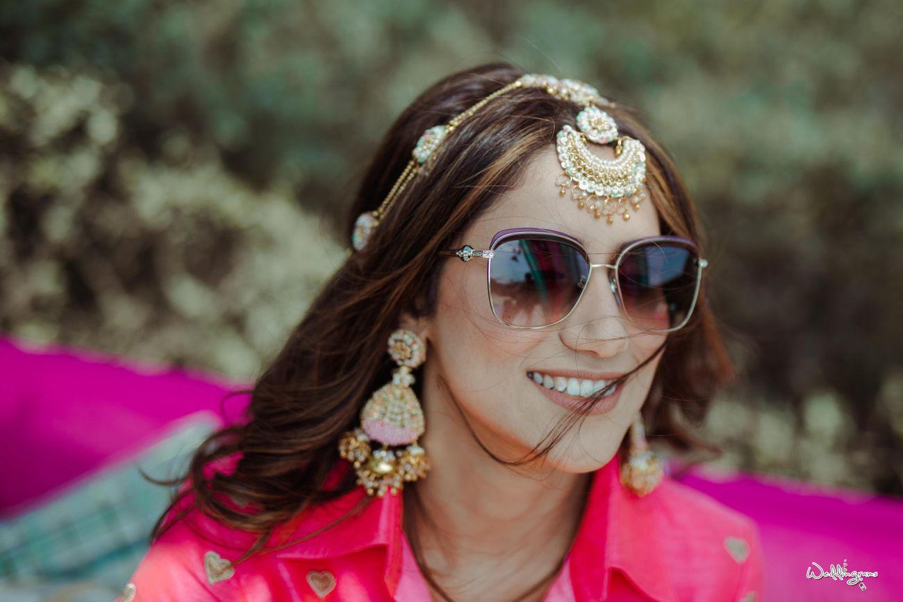sequin embellished sheeshpatti