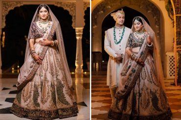 Bride In Marwar Couture Lehenga