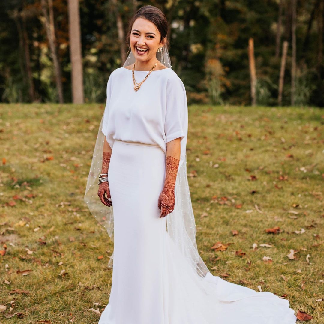 Gera in white bridal gown