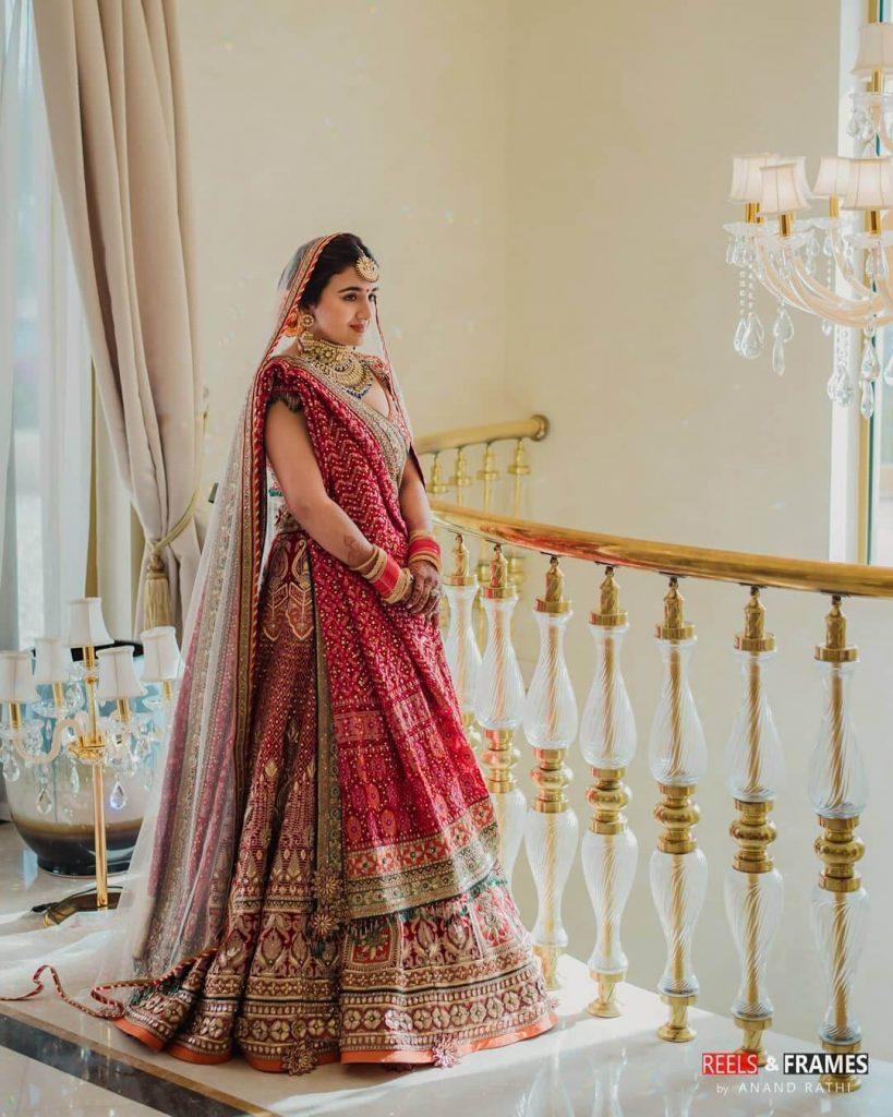 bandhani bridal dresses
