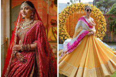 bandhej wedding dresses
