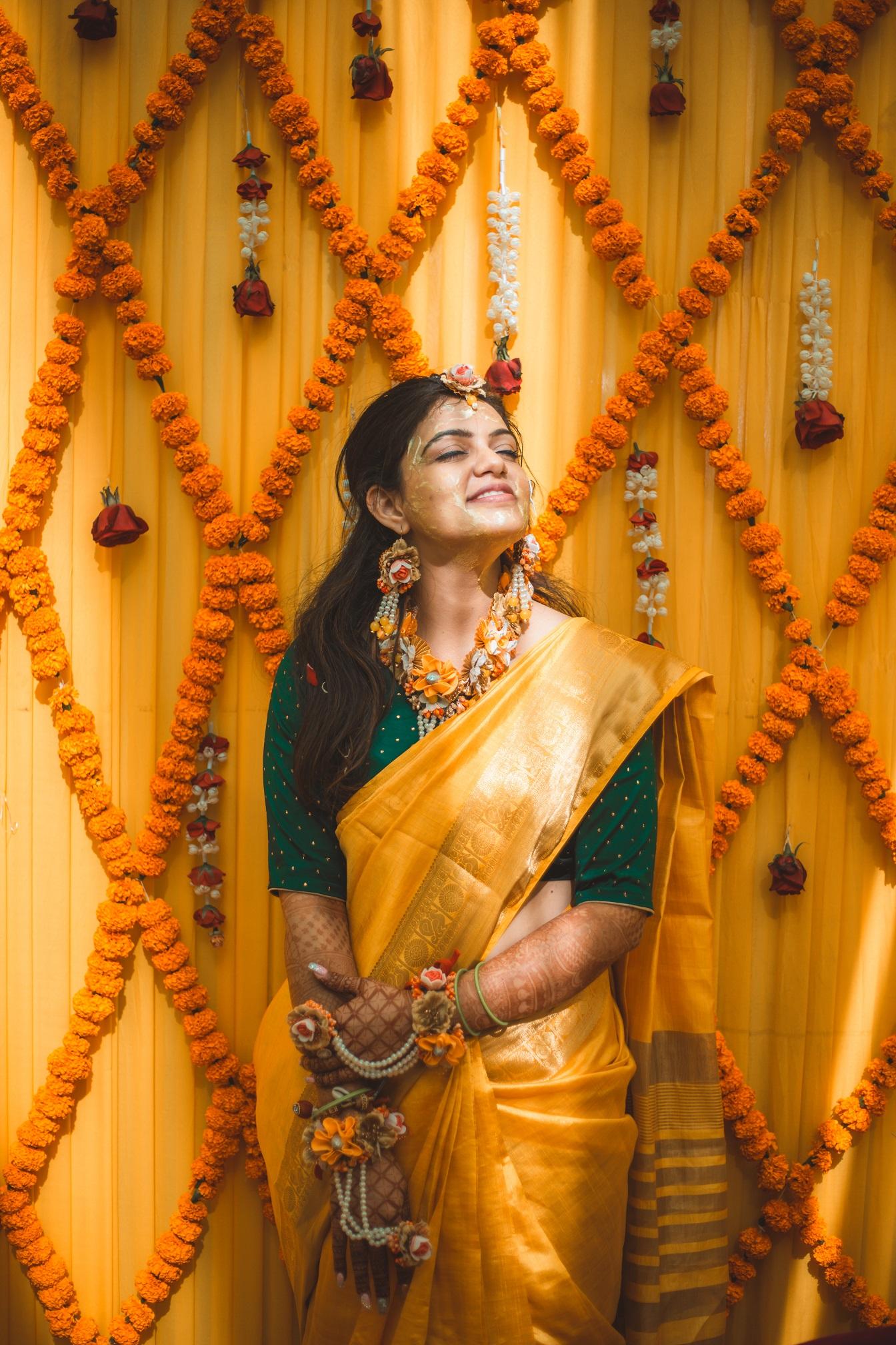 bridal haldi picture