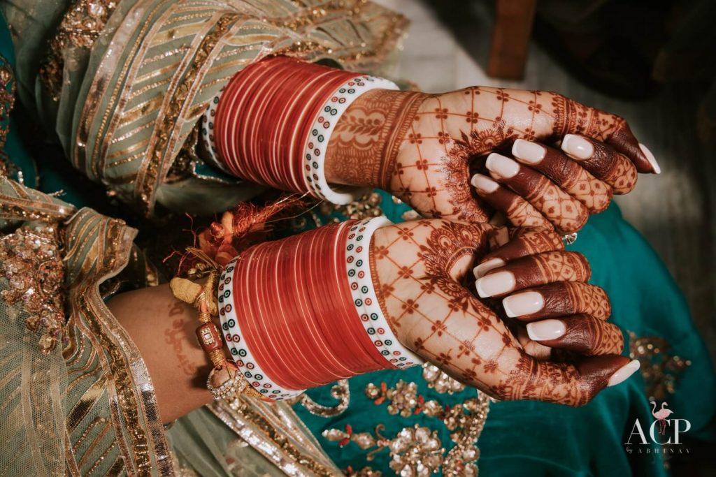 bridal red chooda