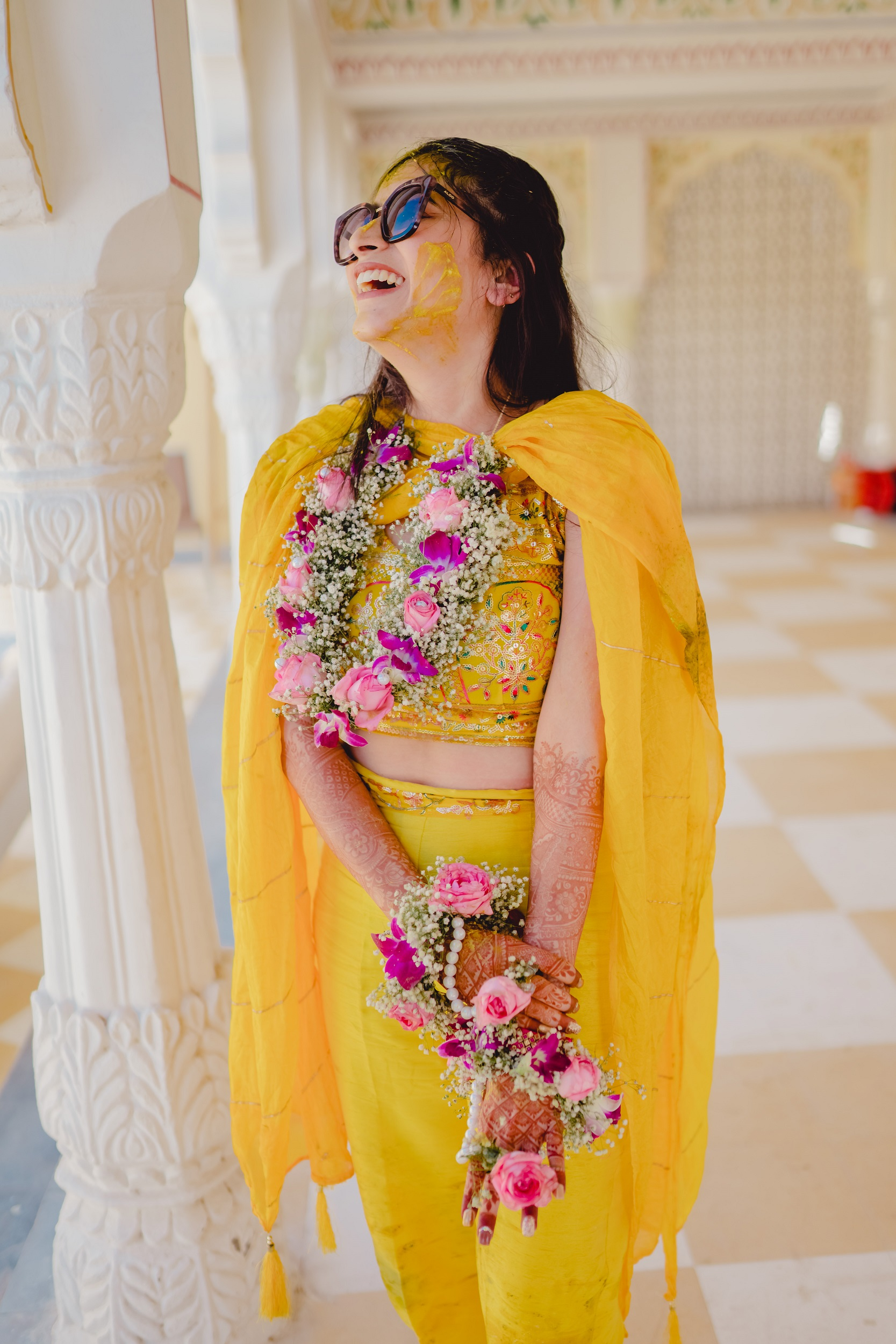 bride haldi outfit