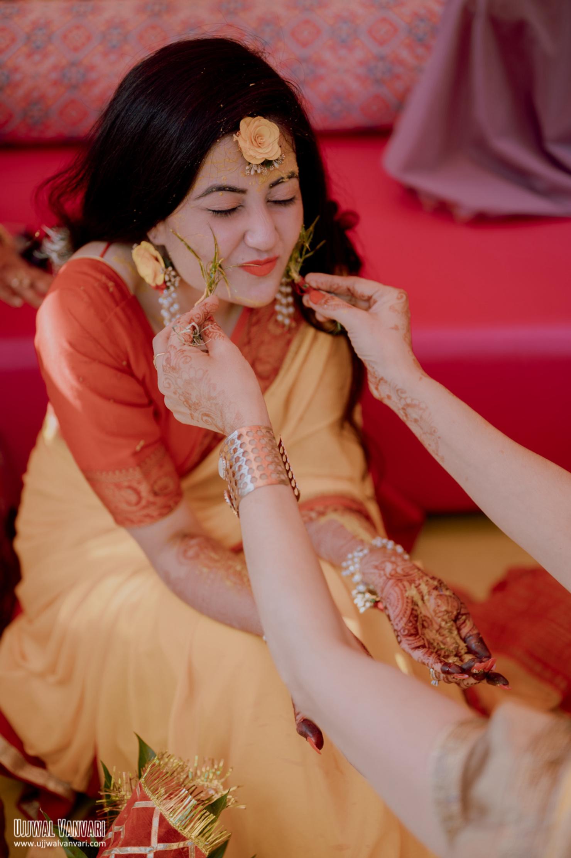 bride haldi photos