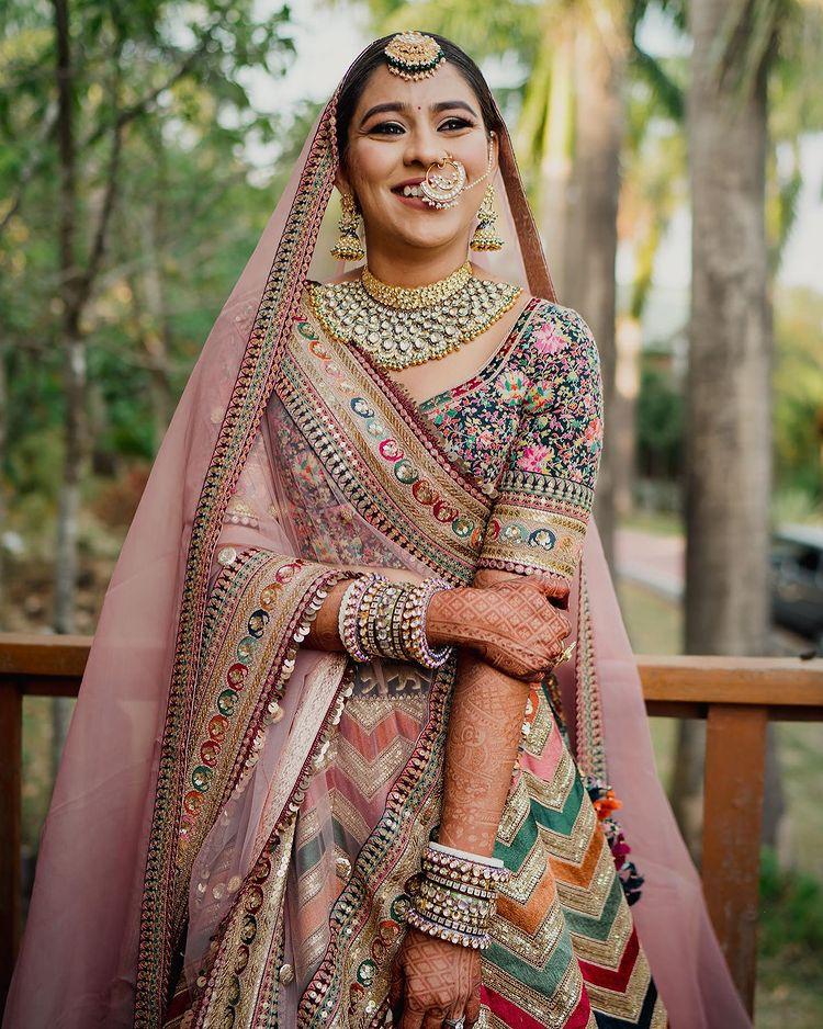 colorful bridal lehenga