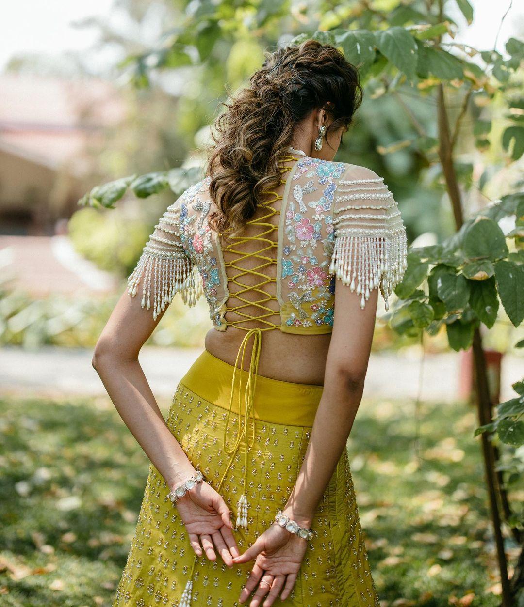 criss cross dori blouse design