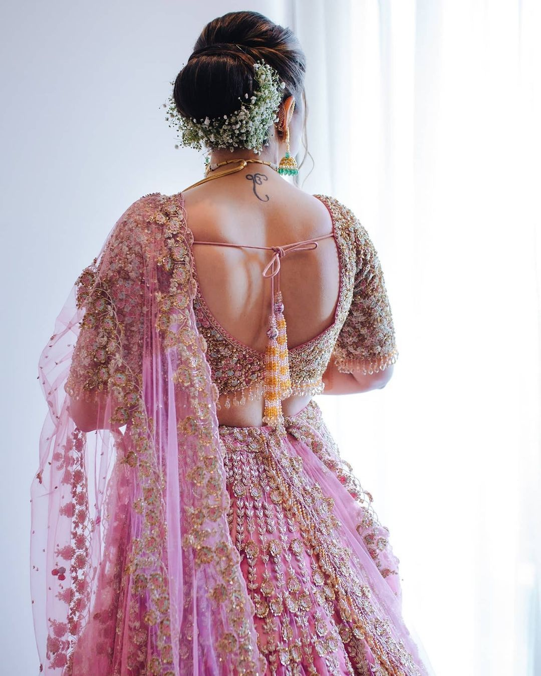 embellished bridal blouse