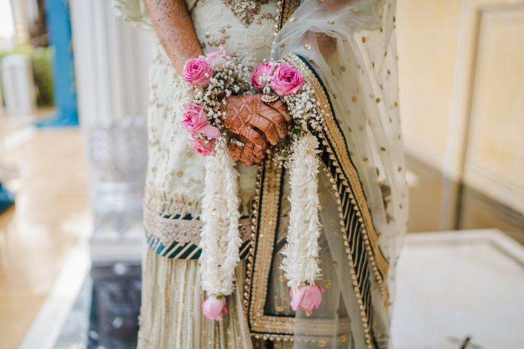 floral bridal accessories
