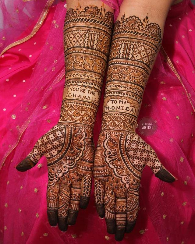 unique bridal mehandi