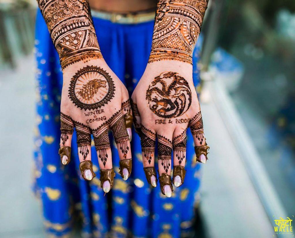 unique bridal henna designs