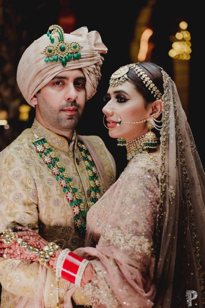 groom wearing necklace