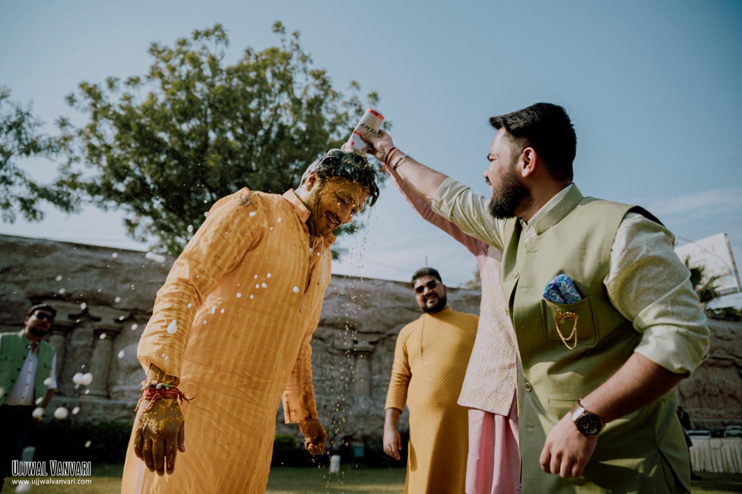 groom haldi picture