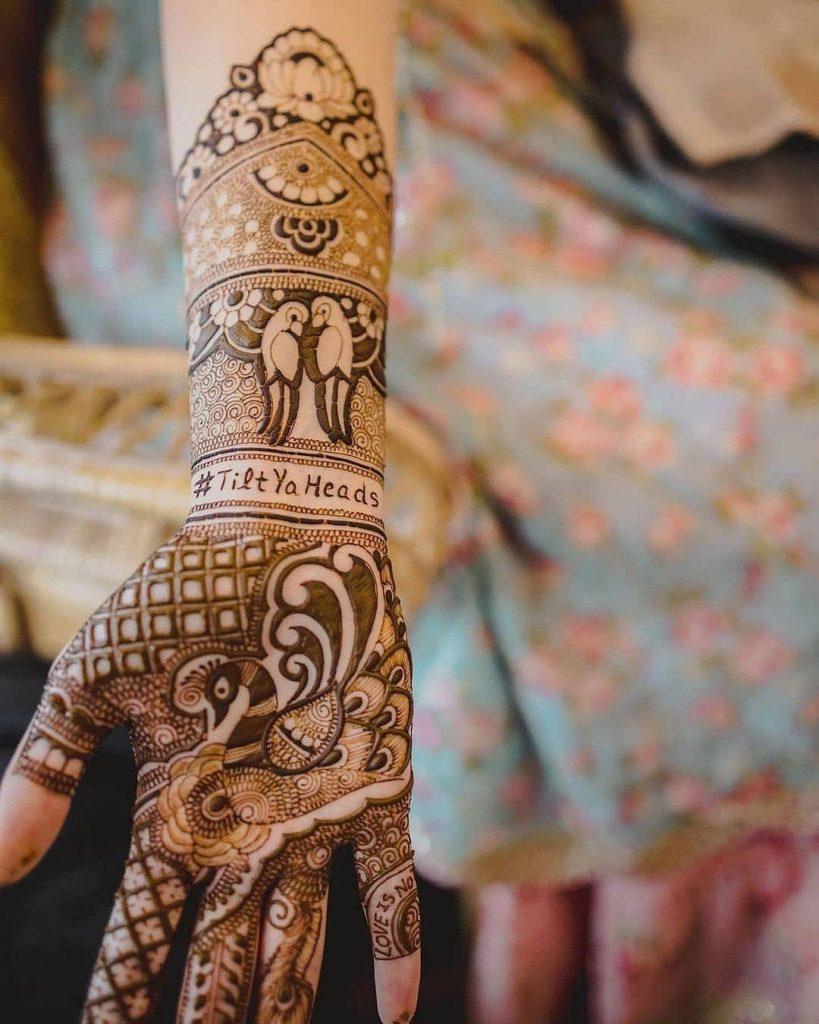 wedding hashtag on mehndi
