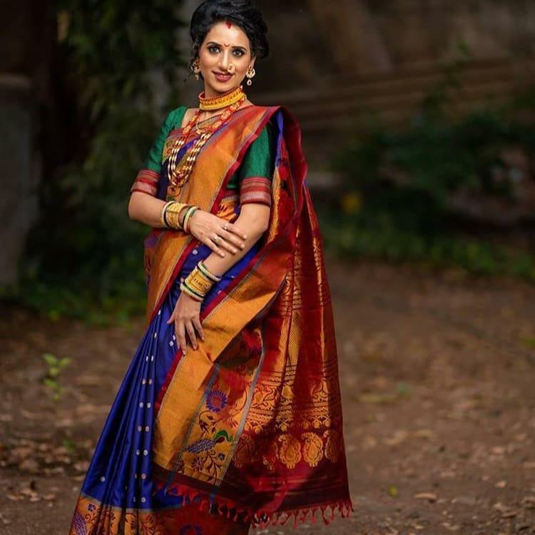 paithani bridal saree