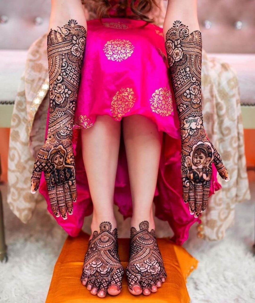 portrait henna ideas