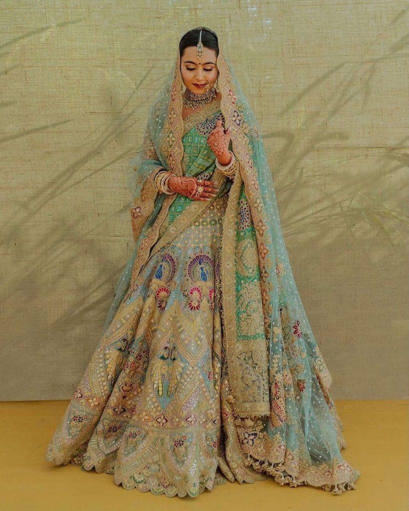 offbeat bridal lehenga color