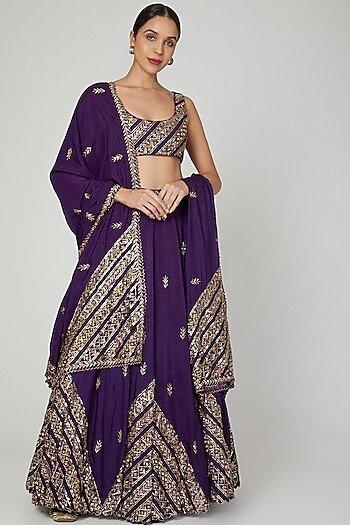 purple lehenga for brides