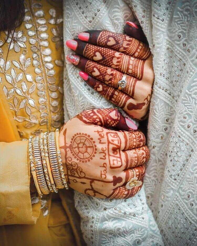 customised bridal henna