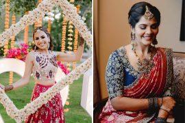 Contrasting Bridal Blouses